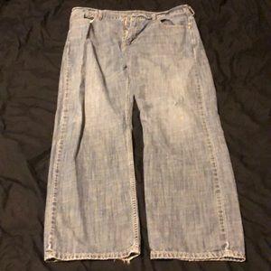Men's Levi's 569 Jeans faded blue 36 x 32